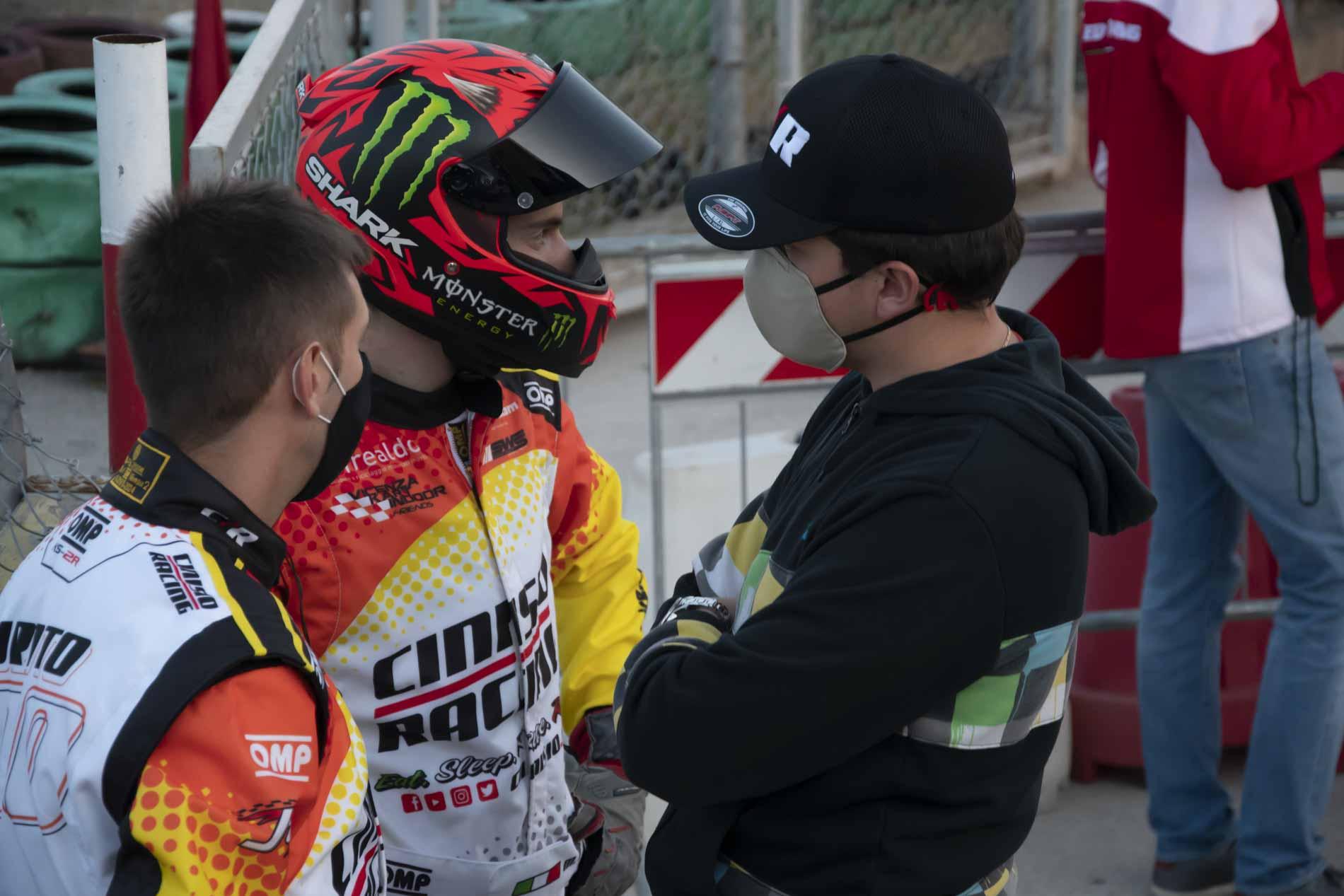 Andrea Turato, Marco Dal Pezzo e Marco Sinico discutono la strategia